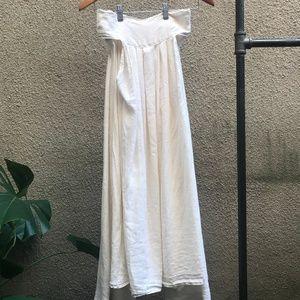 Black Crane Wrap Skirt in Natural